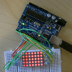 Fruitless attempt at working a LED matrix