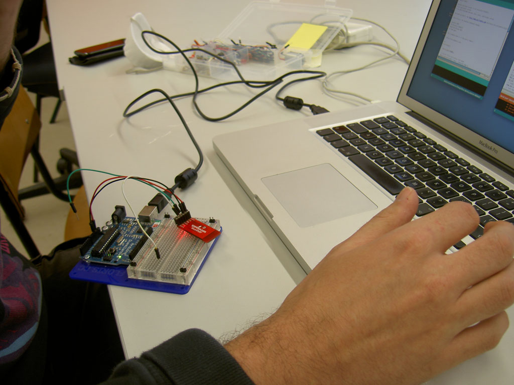 Michel testing the Bluetooth module