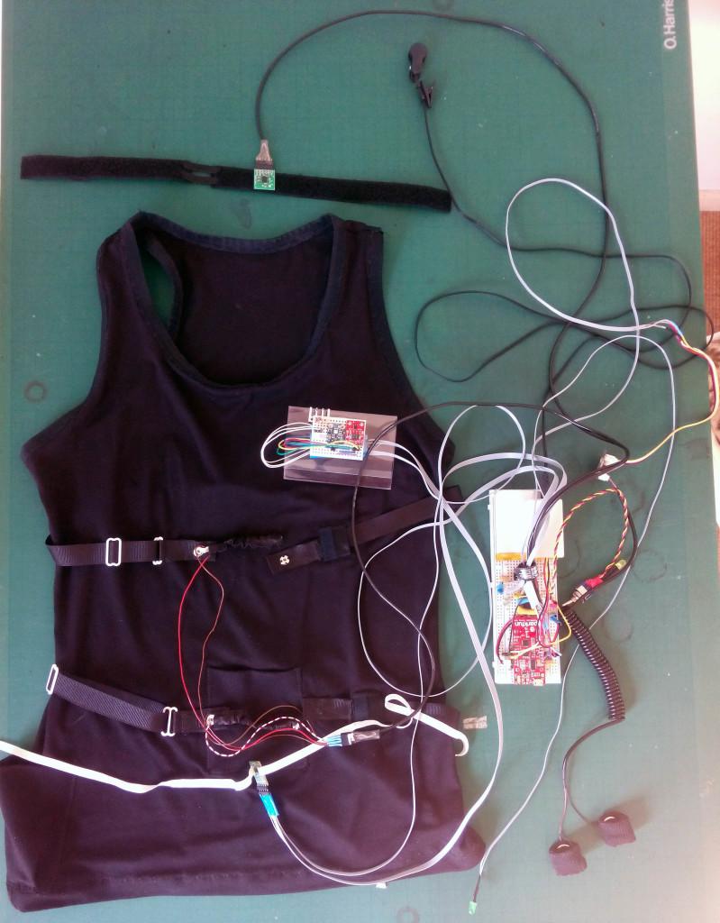 Vest with sensors