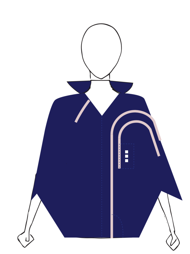first design by Vera de Pont - poncho like suit